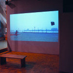 Video art from China showcasing a short clip in the Carlsten Art Gallery. Photo by Nomin Erdenebileg