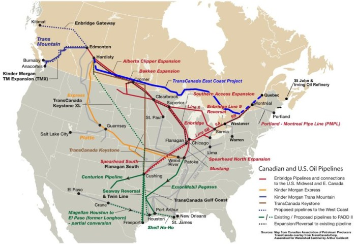 Bad River Band Denies Pipeline Renewal The Pointer - Map of all oil pipelines in us