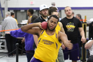 Thrower Isaiiah Yaroch readies the shot put. Photo courtesy of Dalen Dahl.