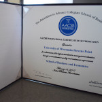 AACSB Accreditation Certificate. Photo by Nomin Erdenebileg