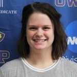 Kennedy Halsmer is a two sport athlete in swimming and rugby. Photo courtesy of UWSP Athletics.
