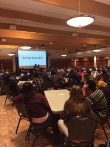 "Massive turn out to the C&C on ""What Does Being Afro-Latino Mean?"". Photo provided by SIEO"