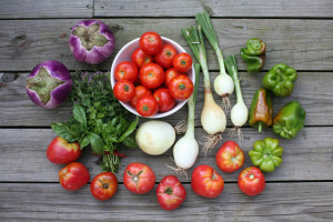 "Fresh vegetables. ""CSA_week12"" by Christopher Paquette is licensed under CC BY-NC-ND 2.0."