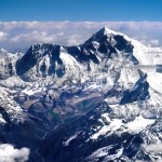 """A view of the summit of Mount Everest. """"Everest 3"""" by Michael Foley is licensed under CC BY 2.0"""