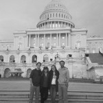 Robby Abrahamian, Jordan Farrell, Nellie Anne DeLain and Lucy DeLain in front of the Capital. Photo courtesy of Robby Abrahamian