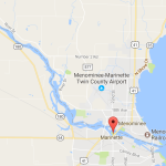 A map of Marinette and Menominee. Image from Google Maps.