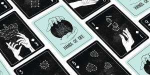 Card game project created by senior designer, Alex Gillis. Photo courtesy of Alex Gillis