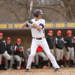 William IIoncaie bats for the Pointers. Photo courtesy of UWSP Athletics.