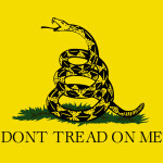 The Gadsden flag falls within the historical flags of America. Photo by wikimedia commons.