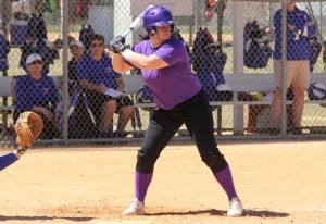 A Pointer is up to bat. Photo courtesy of UWSP Athletics.