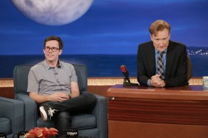 Comedian, Matt Donoher on the Conan O'brien show. Photo provided by mattdonoher.com