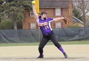 Ashley Cohen pitching during a game. Photo courtesy of Dalen Dahl.