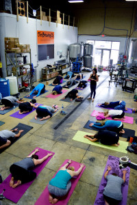 Beer and Yoga event at O'so Brewery. Photo by Anne Morgan