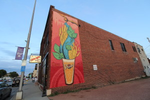 The new Point Beer mural displayed on the side of Galaxy Comics. Photo courtesy of Dalen Dahl.